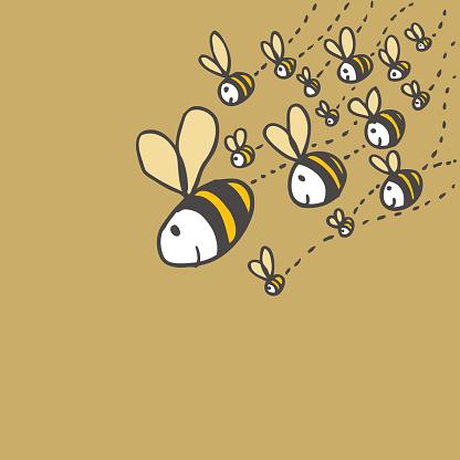 Friendly Bees Stockvectorkunst en meer beelden van Achtergrond - Thema