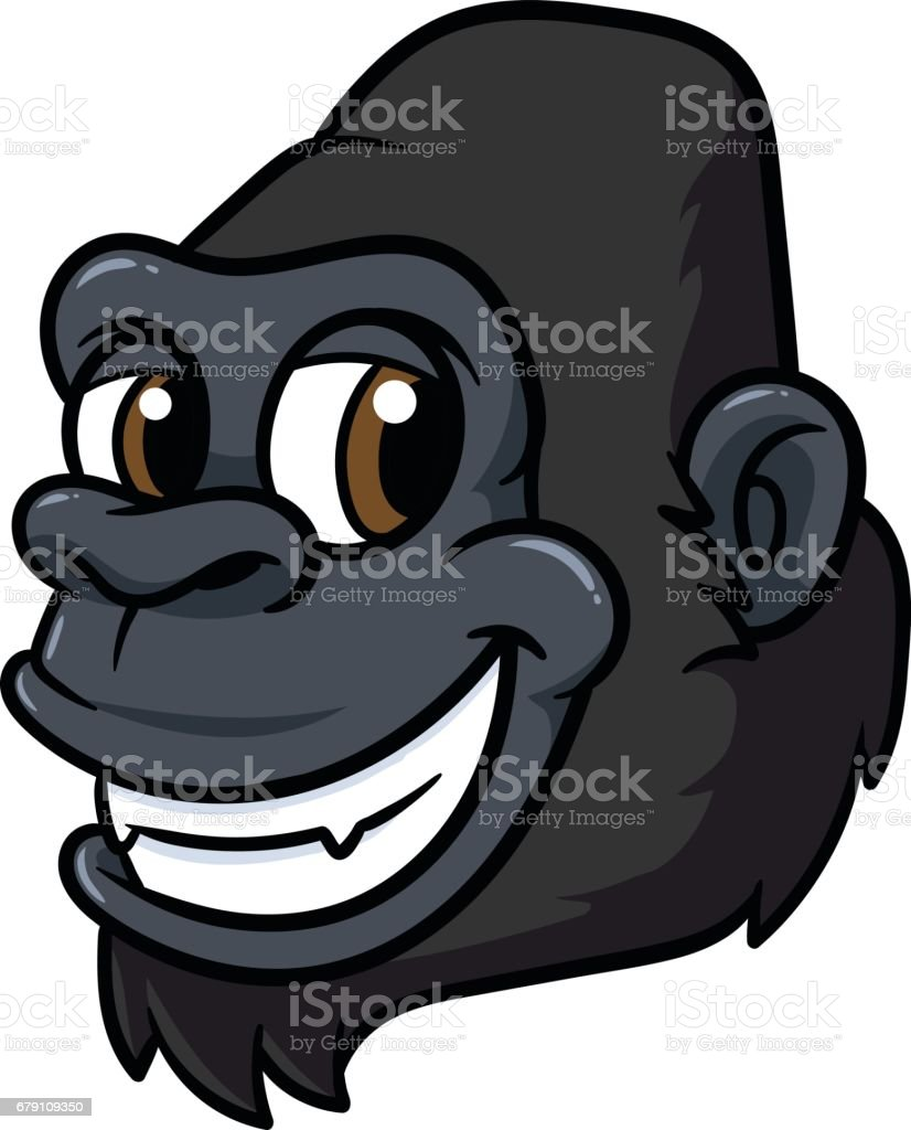 royalty free clip art of laughing chimpanzee clip art vector images rh istockphoto com chimpanzee face clipart
