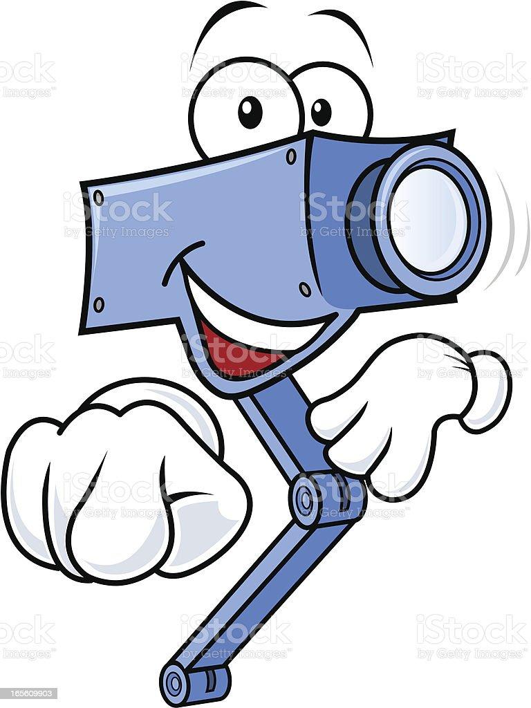 Friendly CCTV camera vector art illustration