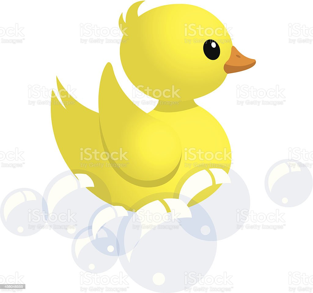 friendly floating rubber duck royalty-free stock vector art