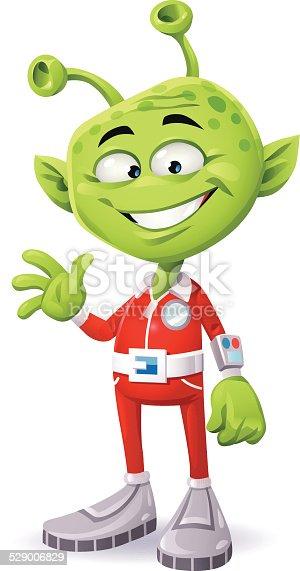istock Friendly Green Alien 529006829
