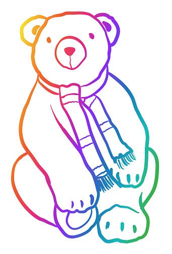 Friendly Looking Stuffed Bear 2