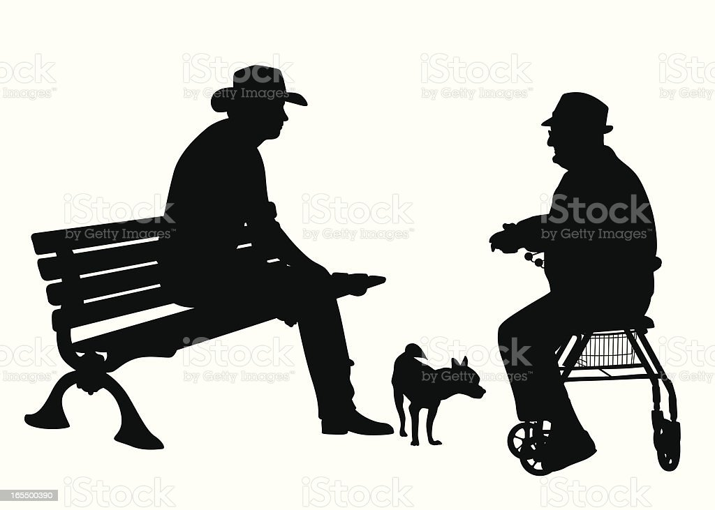 Friendly Talk Vector Silhouette royalty-free stock vector art