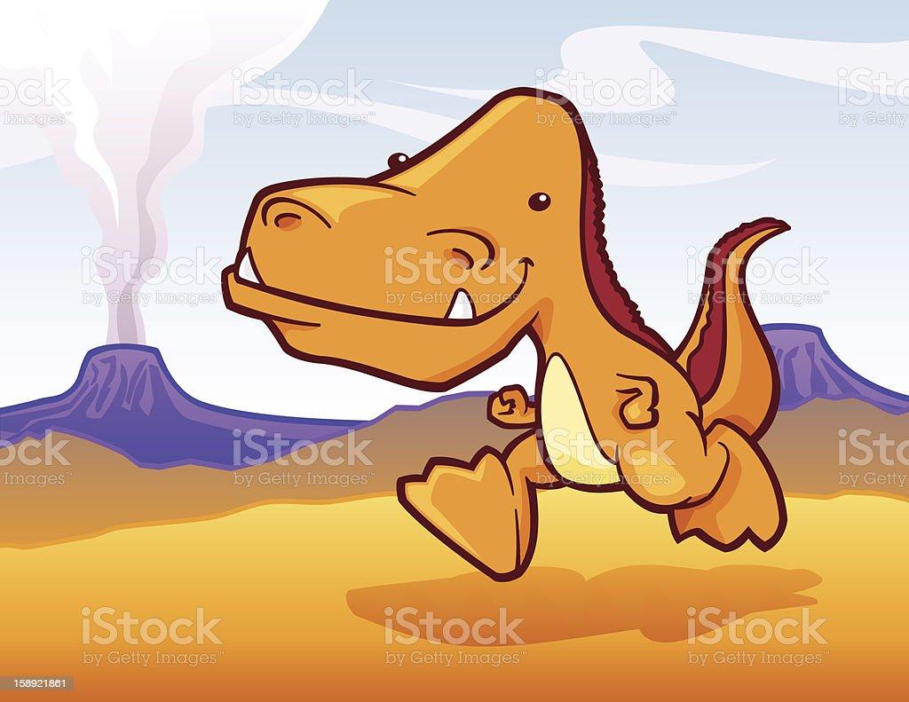 Friendly T-Rex vector art illustration