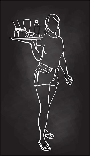 Friendly Waitress Chalkboard