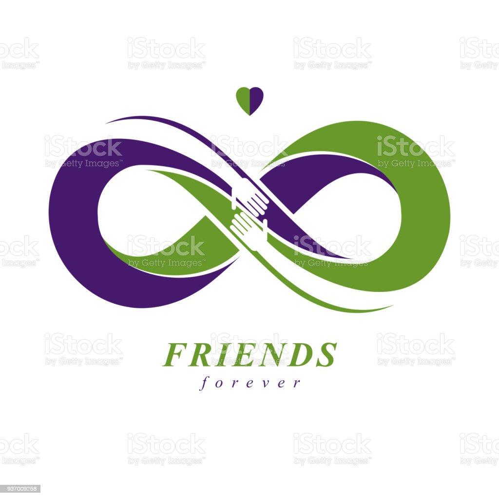 Friends Forever Everlasting Friendship Unusual Vector Symbol