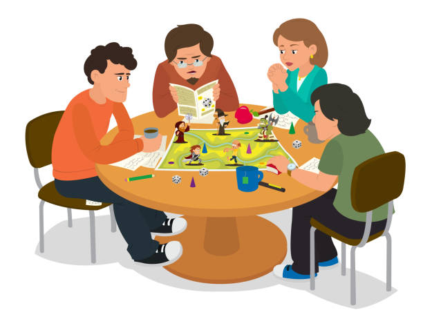 Royalty Free Family Playing Cards Clip Art, Vector Images ...