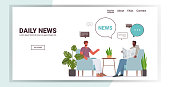 istock friends reading newspaper discussing daily news during meeting chat bubble communication concept 1257261416
