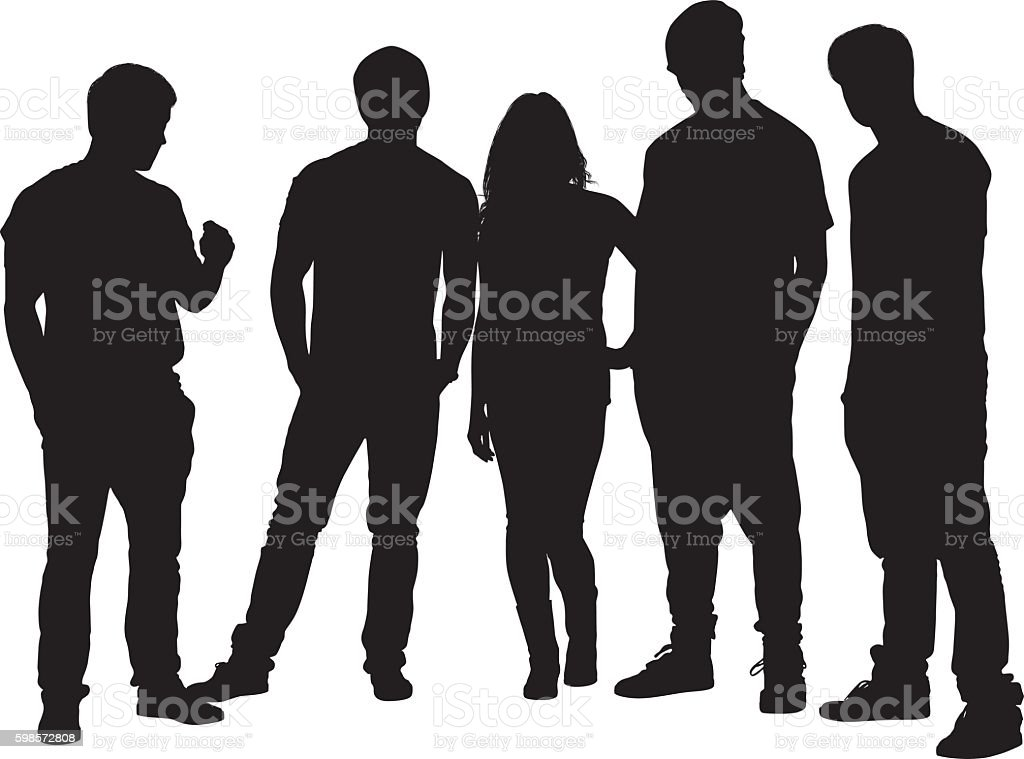 royalty free small group of people clip art vector images rh istockphoto com Group of People Clip Art Transparent Group of Men Clip Art