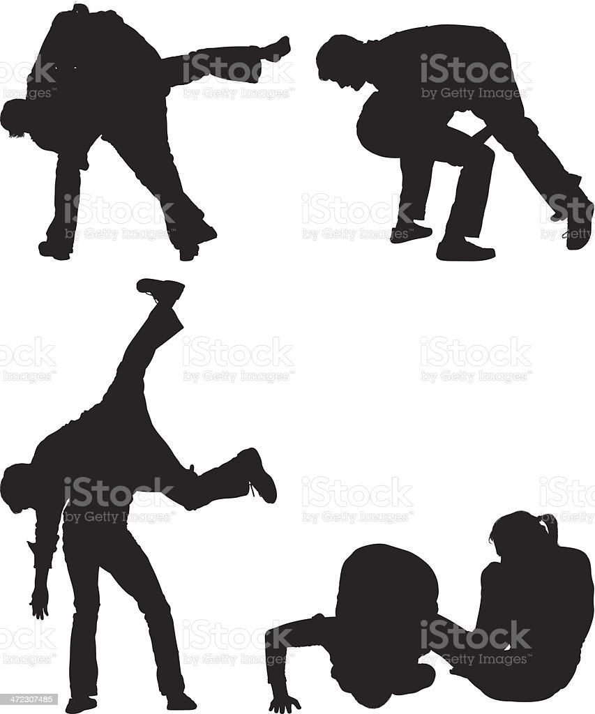 Friends wrestling royalty-free friends wrestling stock vector art & more images of adult