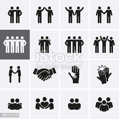 Friendship and Friend Icon set. Vector relationship