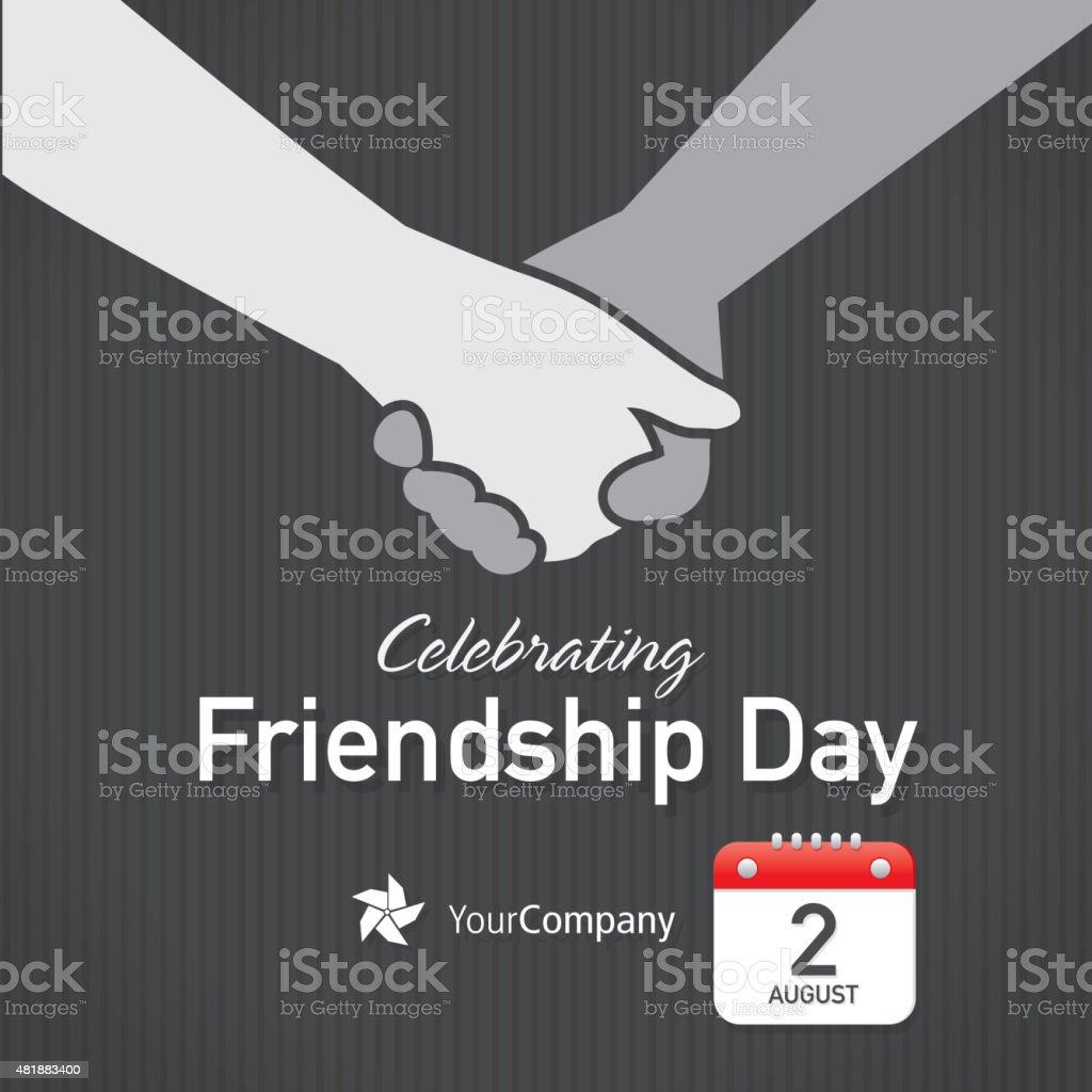 Friendship Appreciation Day Calendar design layout template. Black...