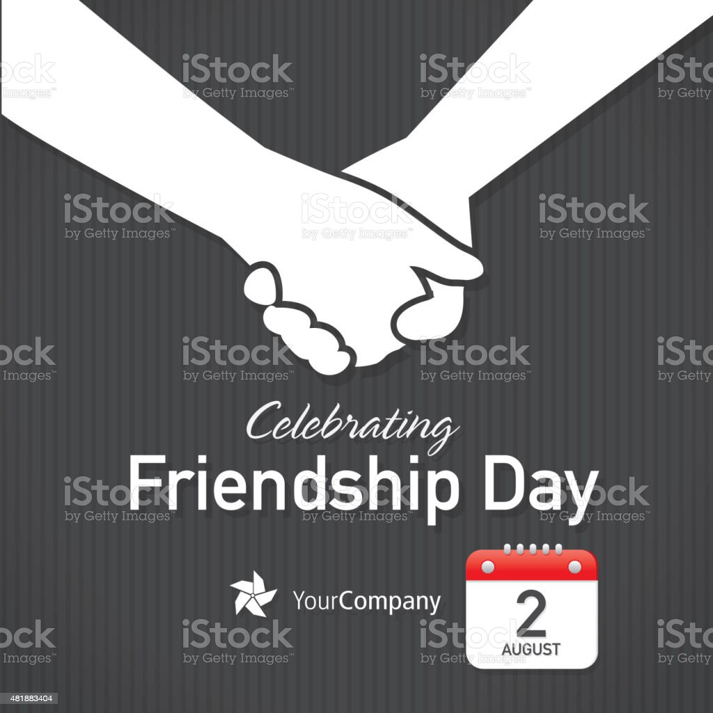 Friendship Appreciation Day Calendar design layout template vector art illustration