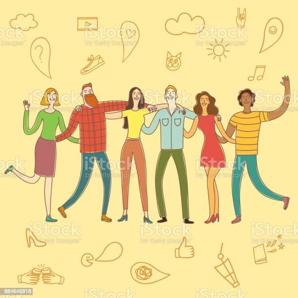 Friendship cartoon illustration vector id884646818?b=1&k=6&m=884646818&s=612x612&h=kqbj6h2cykbnpwdtv3ezfoexr ow o8nnrtguz9nd2s=