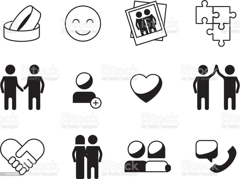 Nieuw Vriendschap Pictogram Liefde Relatie Symbolen Familie Hoop DT-85