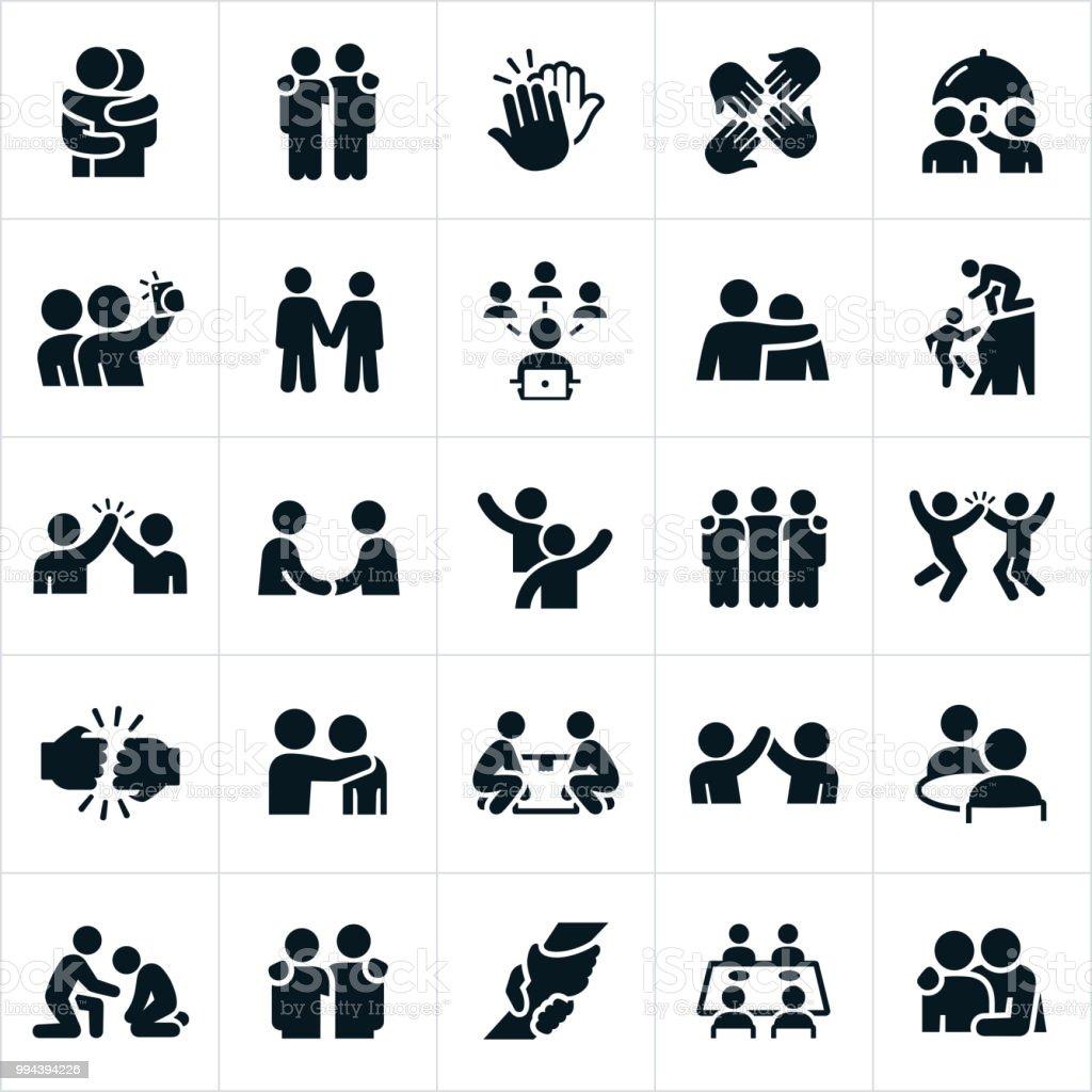Friendship Icons - Grafika wektorowa royalty-free (Chwytać)