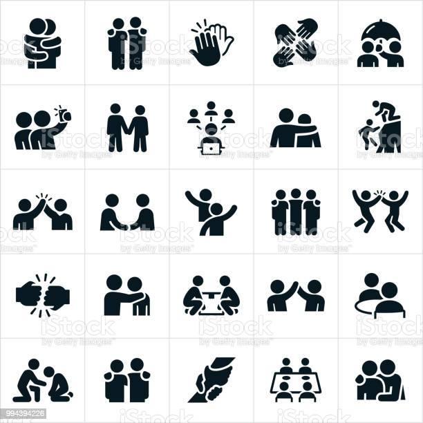 Friendship Icons - Stockowe grafiki wektorowe i więcej obrazów Chwytać