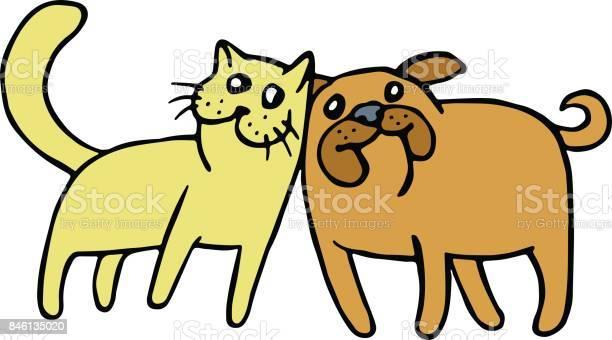 Friendship of a cat and a dog vector illustration vector id846135020?b=1&k=6&m=846135020&s=612x612&h=phgwdesw2ct8o7wvra0cfqmmi8n5ojvqojfzku0g2wa=