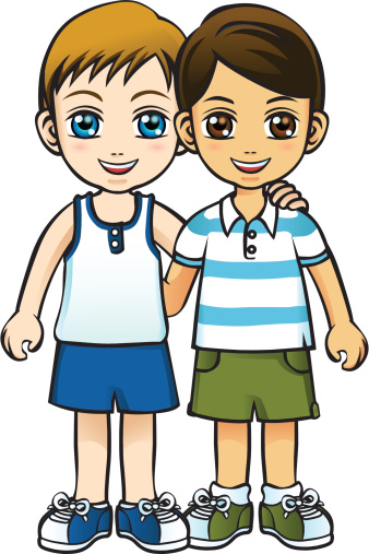 Friendship of two boys