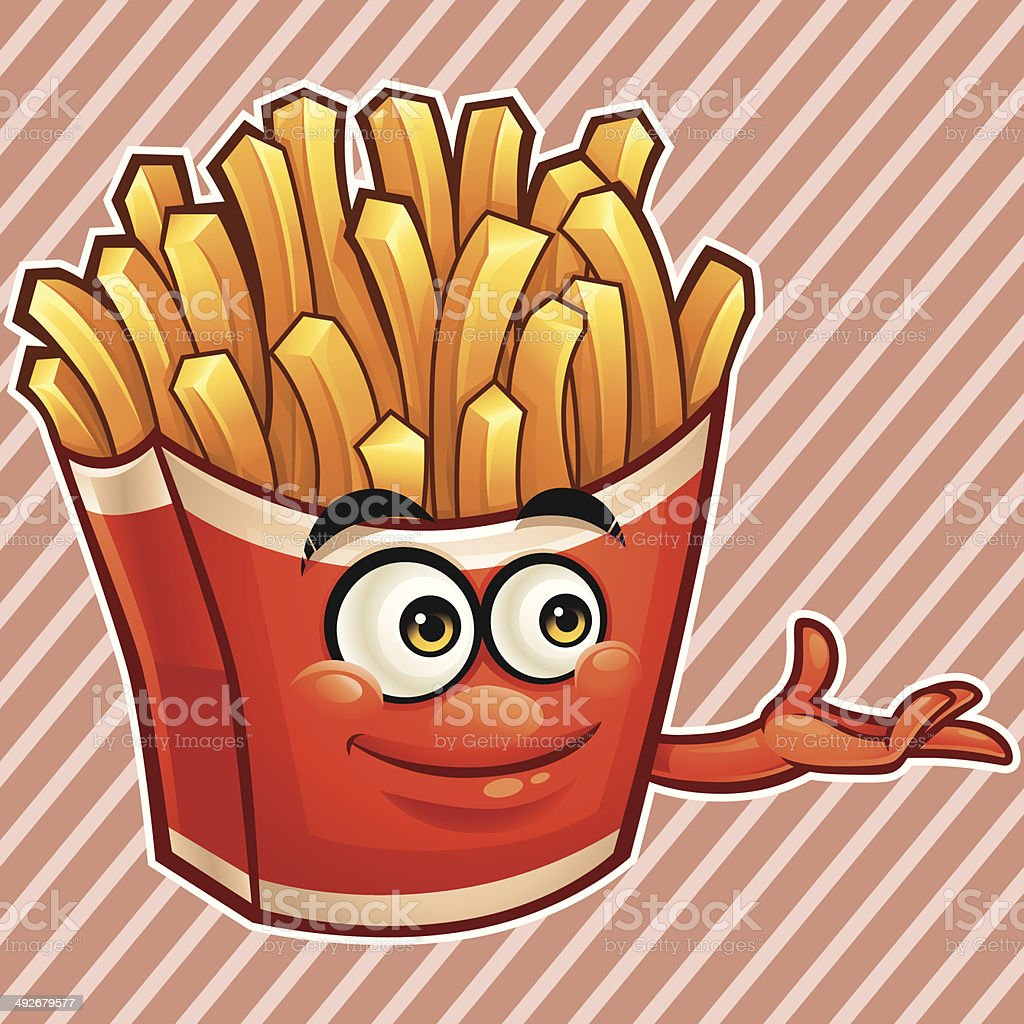 Fries Cartoon - Presenting royalty-free stock vector art