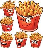 Cartoon fries set including: