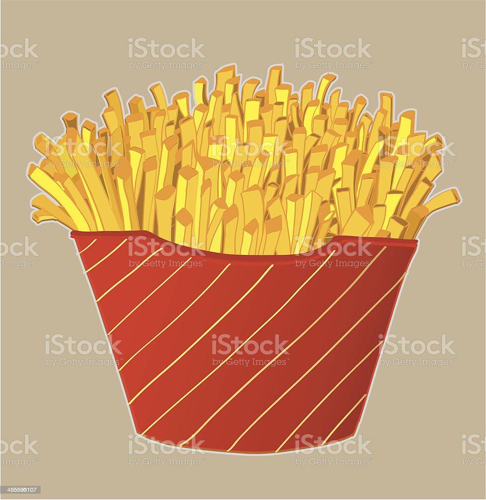 fries royalty-free stock vector art