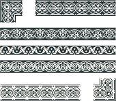 An a Vector Illustration of Frieze - Details