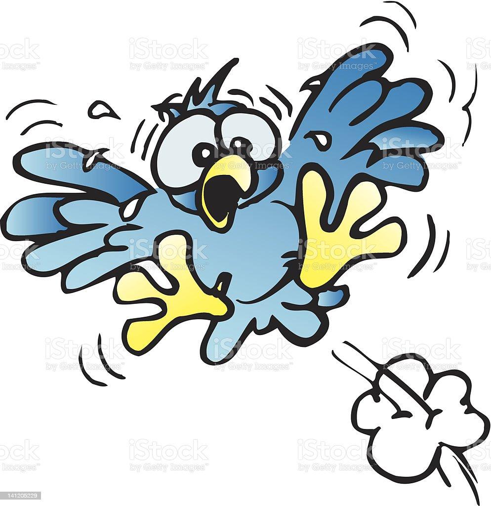 frightened little bird royalty-free stock vector art