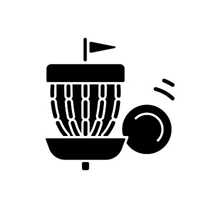 Frisbee golf black glyph icon