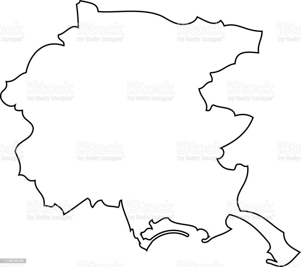 Friuli Venice Julia Map Region Of Italy Stock Illustration