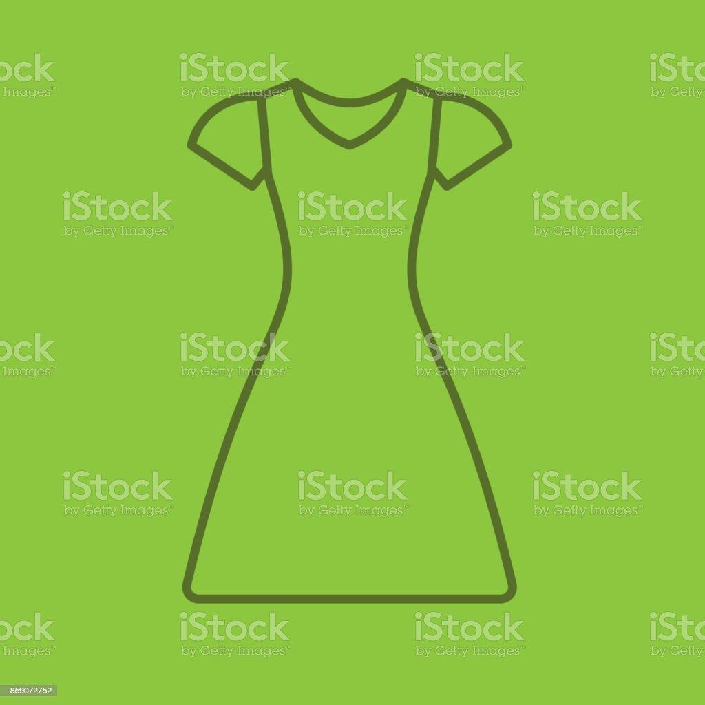 Kleid-linear-Symbol – Vektorgrafik