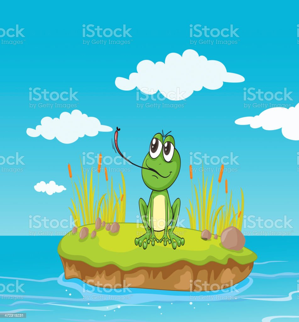 Frog and a water royalty-free frog and a water stock vector art & more images of amphibian