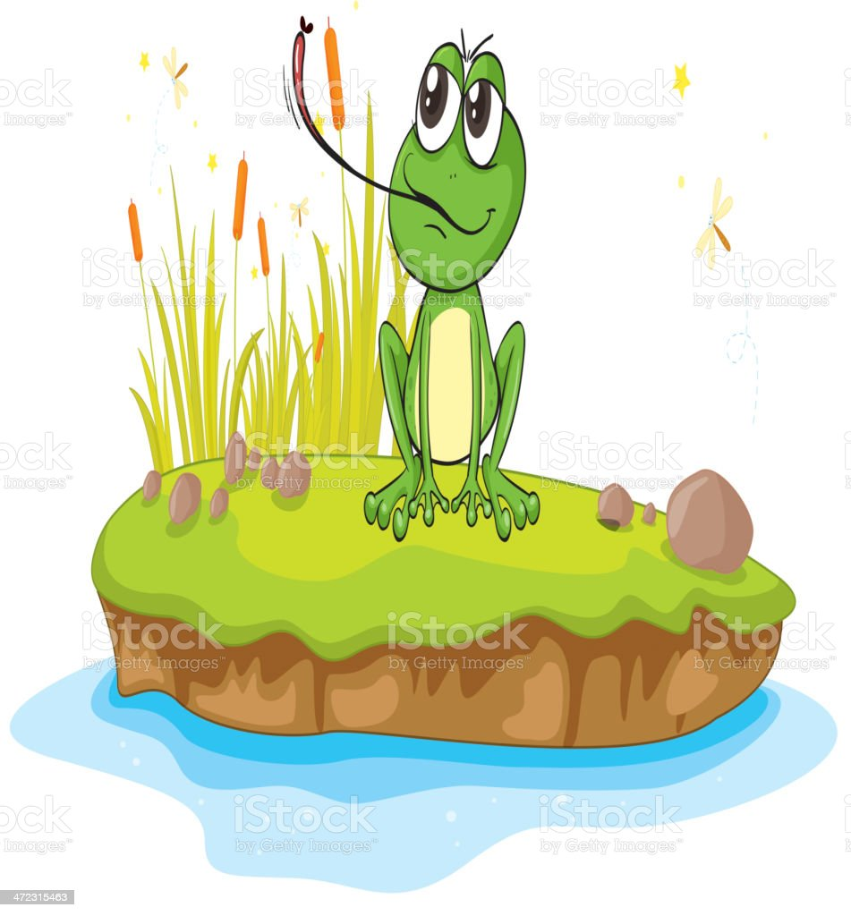 Frog and water royalty-free stock vector art