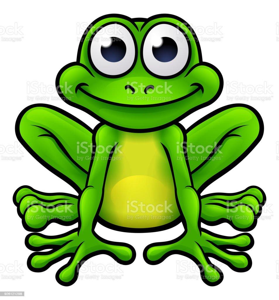 Frog Cartoon Character vector art illustration