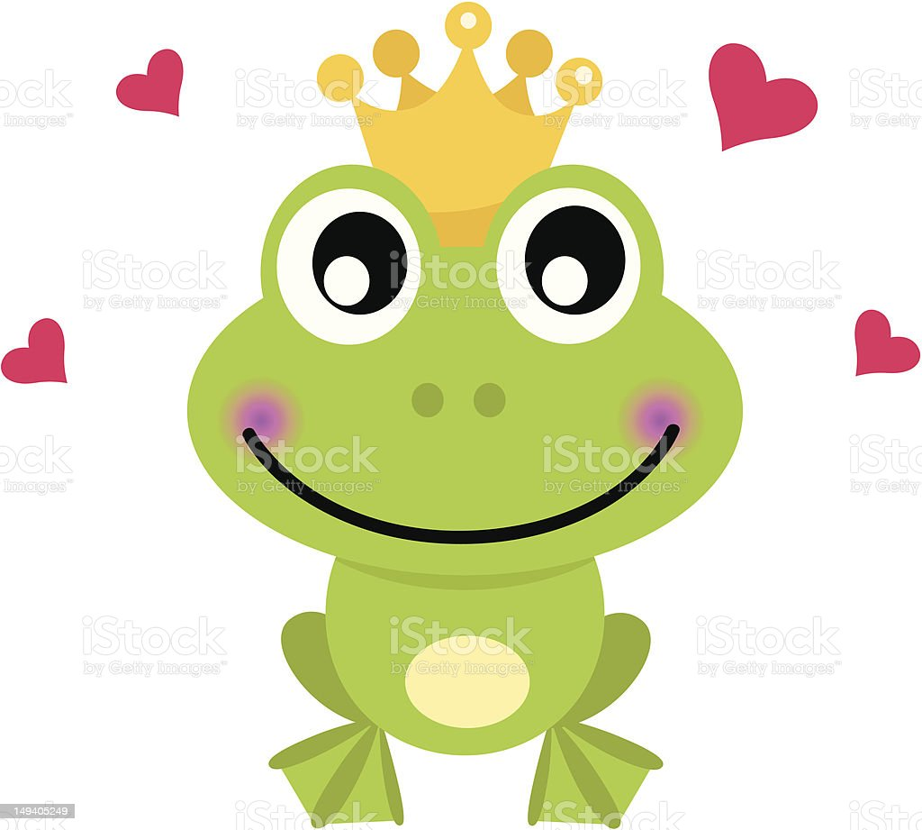 royalty free frog prince clip art vector images illustrations rh istockphoto com frog prince clip art black and white Baby Frog Clip Art