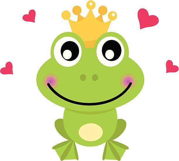 frosch comic prince, isoliert auf weiss - prince stock-grafiken, -clipart, -cartoons und -symbole