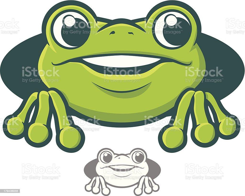 Frog Character Icon vector art illustration