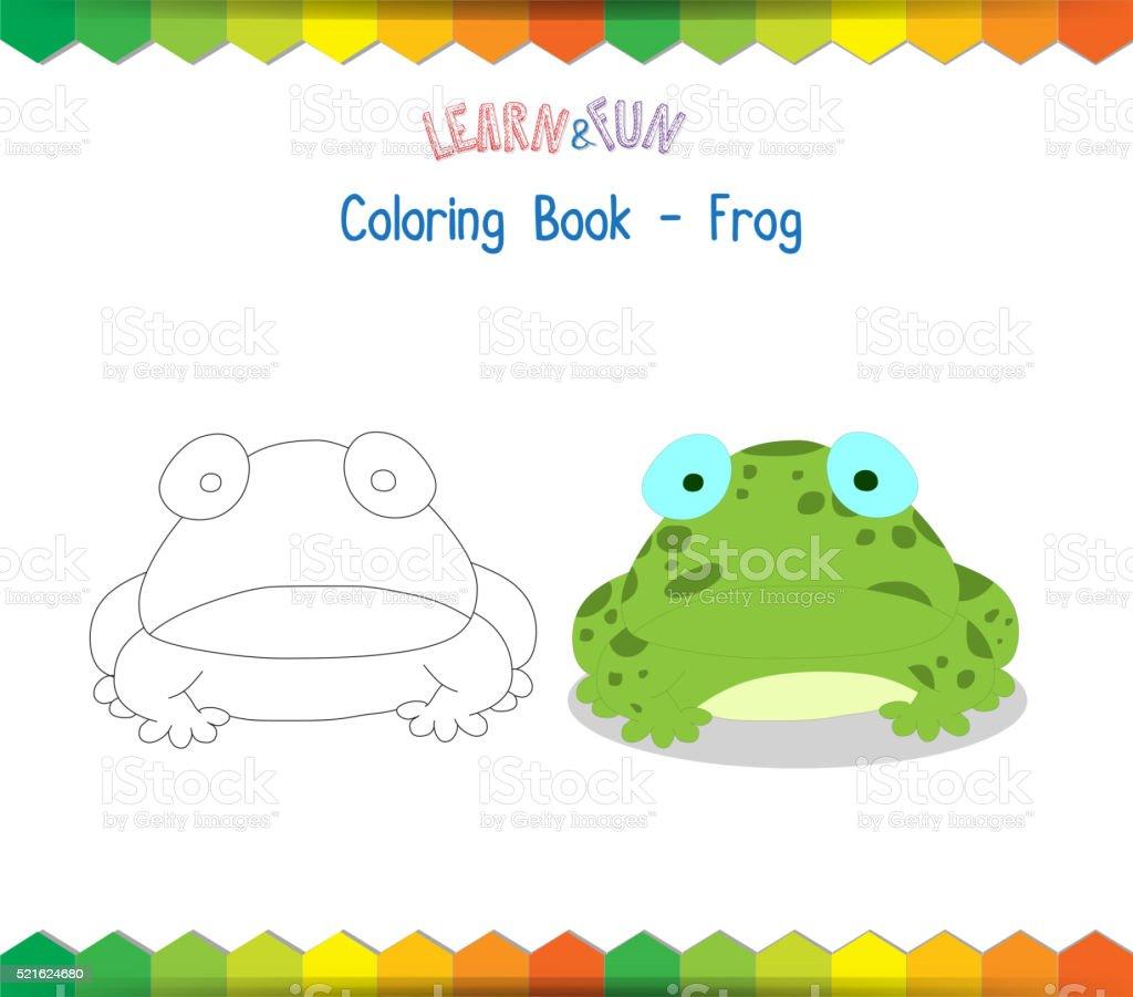 Ilustración de Rana Libro Para Colorear Educativo Juego y más banco ...