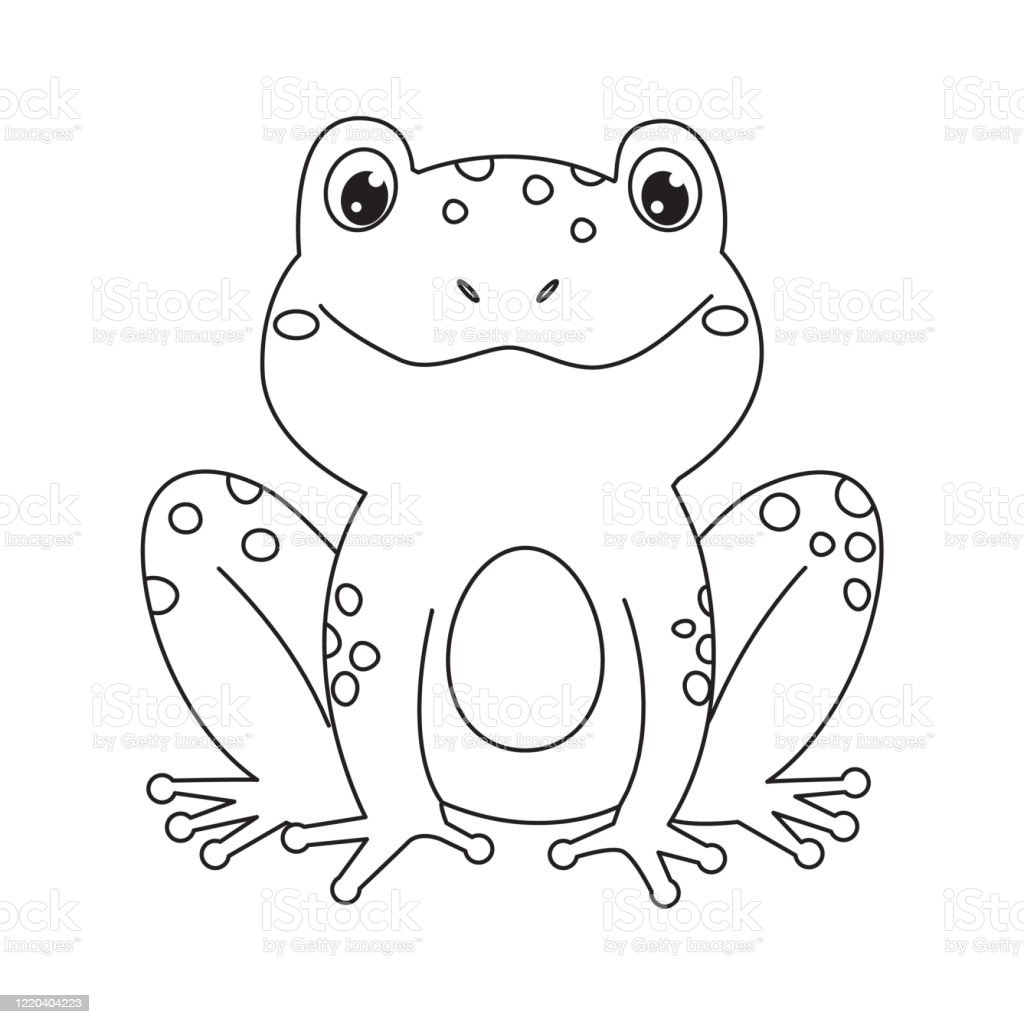 Frog For Coloring Bookline Art Design For Kids Coloring Page Stock Illustration Download Image Now Istock