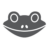 Frog glyph icon, animal and zoo, amphibian sign vector graphics, a solid pattern on a white background, eps 10.