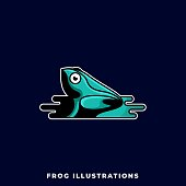 Frog Illustration Vector Design Template. Suitable for Creative Industry, Multimedia, entertainment, Educations, Shop, and any related business.