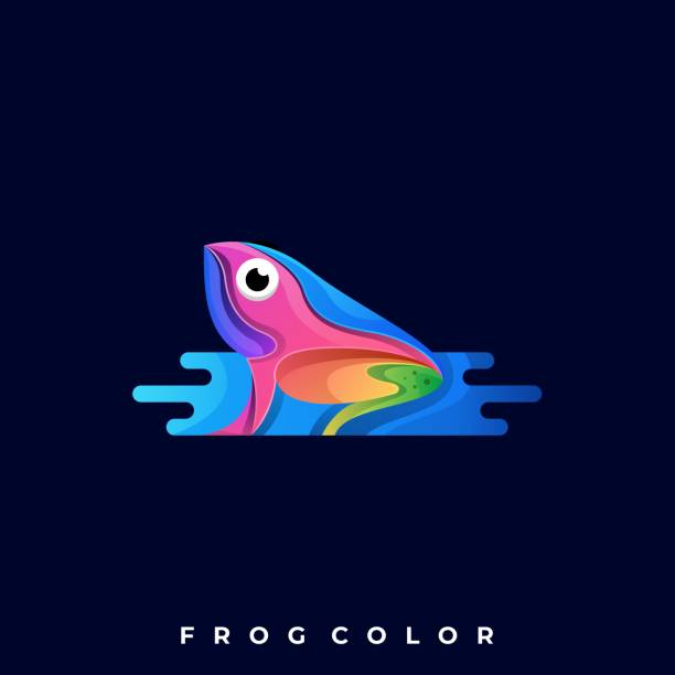 Frog Illustration Vector Design Template Frog Illustration Vector Design Template. Suitable for Creative Industry, Multimedia, entertainment, Educations, Shop, and any related business. amphibians stock illustrations