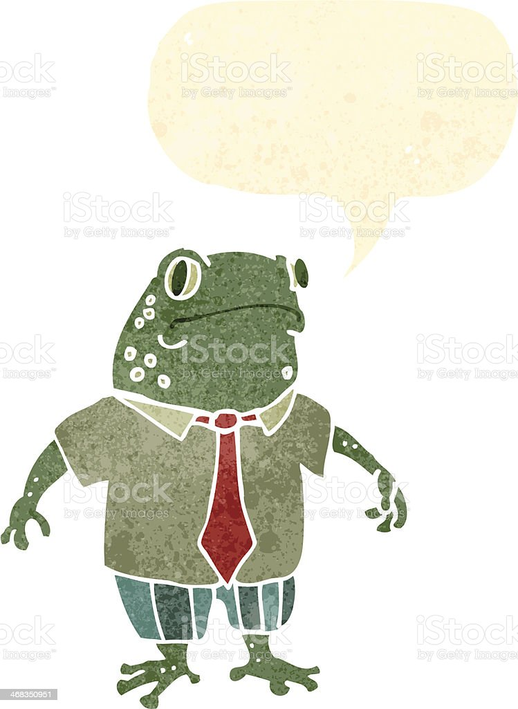 frog in shirt and tie retro cartoon royalty-free frog in shirt and tie retro cartoon stock vector art & more images of bizarre