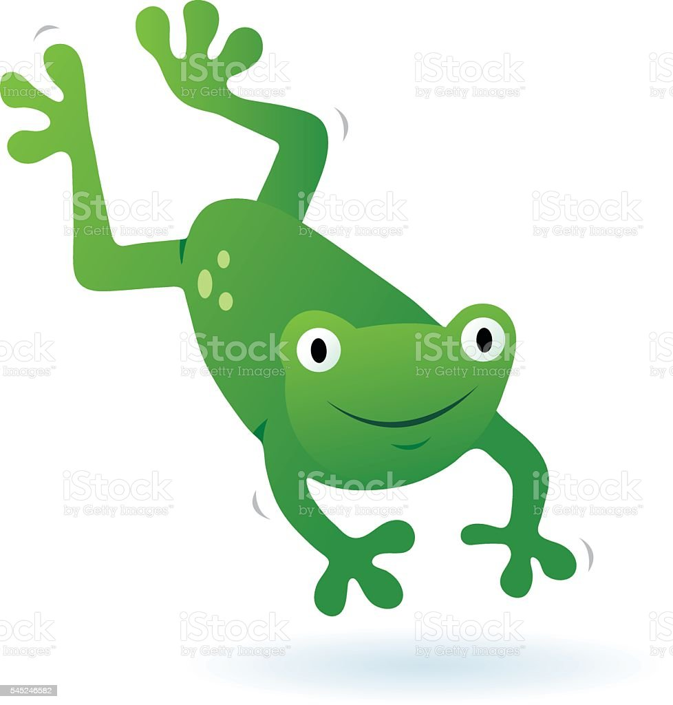 royalty free jumping frog clip art vector images illustrations rh istockphoto com Cartoon Frogs Jumping Group Hopping Frogs