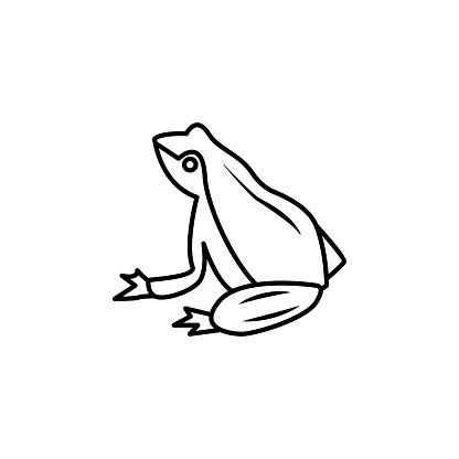 frog line icon. signs and symbols can be used for web, logo, mobile app, ui, ux