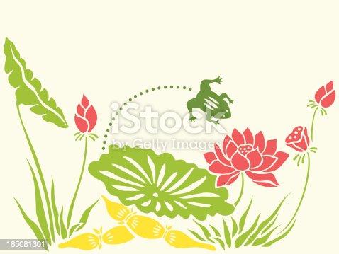 istock Frog & Lotus 165081301