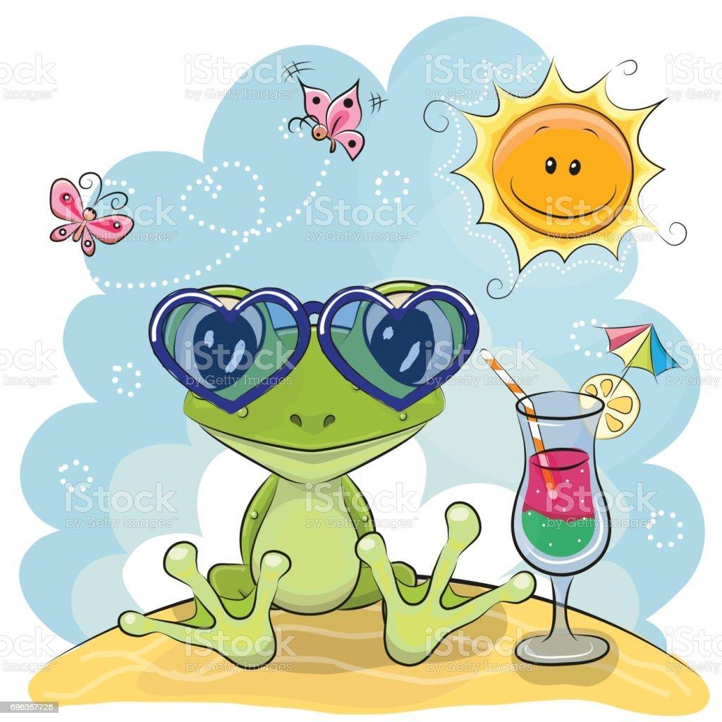 Frosch Am Strand Stock Vektor Art und mehr Bilder von Baby 696357726 ...