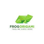 Frog origami icon icon