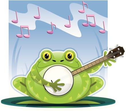 Frog Playing Banjo C
