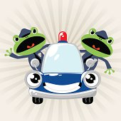 Frog Police Driving Car ( Cops Chasing )